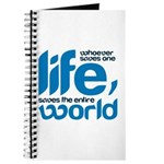 Whoever saves one life Journal