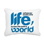 Whoever saves one life Rectangular Canvas Pillow