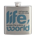 Whoever saves one life Flask