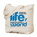Whoever saves one life Tote Bag