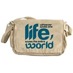 Whoever saves one life Messenger Bag