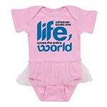 Whoever saves one life Baby Tutu Bodysuit