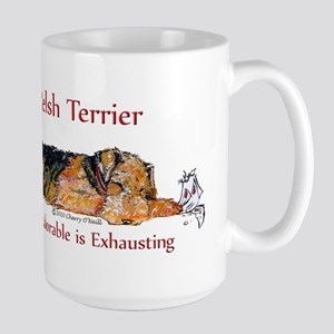 Exhausted Welsh Terrier Large Mug
