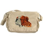 BullDog Art Messenger Bag