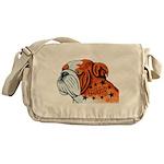 BullDog Art Messenger Bag
