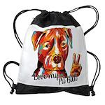 Love My Pit Bull Drawstring Bag