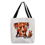 Love my Pit Bull Polyester Tote Bag