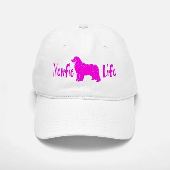 Newfie Life Pink Baseball Baseball Cap