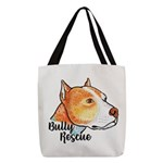 Bully Rescue Polyester Tote Bag