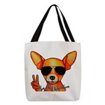 Smooth Chihuahua Polyester Tote Bag