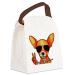 Smooth Chihuahua Canvas Lunch Bag