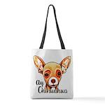 Ay Chihuahua Polyester Tote Bag