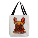 Love My Frenchie Polyester Tote Bag
