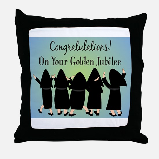 Nuns Jubilee Throw Pillow