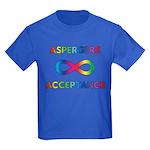 Aspergers Acceptance Kids Dark T-Shirt