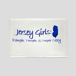 Jersey Girl, Rough, Tough & S Rectangle Magnet