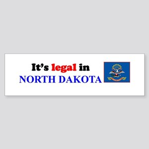 It's Legal in North Dakota Sticker (Bumper)