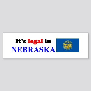 It's Legal in Nebraska Sticker (Bumper)