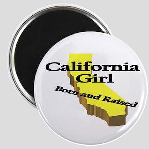 California Girl, Born & Raise Magnet