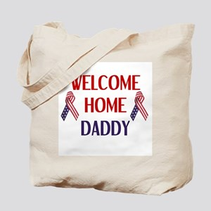 Welcome Home Daddy - Ribbon Tote Bag