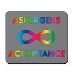 Aspergers Acceptance Mousepad