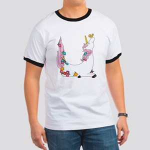 Animal Alphabet Unicorn Ringer T