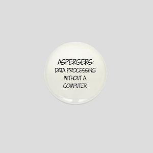 Aspergers Geek Mini Button