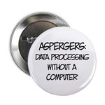 "Aspergers Geek 2.25"" Button"