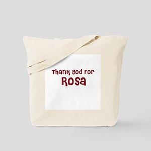 Thank God For Rosa Tote Bag