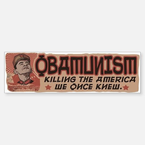 OBAMunism kills U.S. Sticker (Bumper)