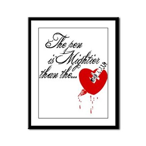 The pen is not mightier Framed Panel Print