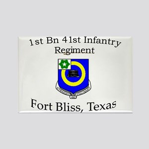 1st Bn 41st Inf Rectangle Magnet