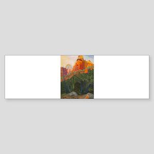 Forbidden Road's End, Zion Sticker (Bumper)