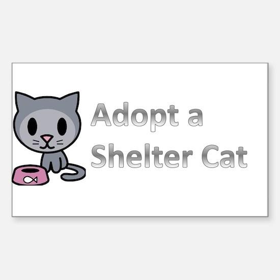 Adopt a Shelter Cat Sticker (Rectangle)