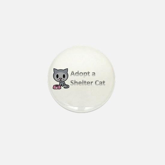 Adopt a Shelter Cat Mini Button