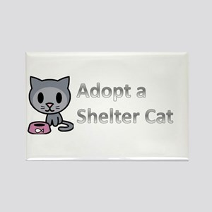 Adopt a Shelter Cat Rectangle Magnet