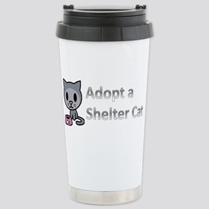 Adopt a Shelter Cat Stainless Steel Travel Mug