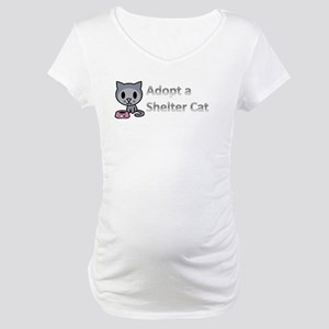 Adopt a Shelter Cat Maternity T-Shirt