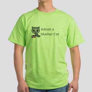 Adopt a Shelter Cat Green T-Shirt
