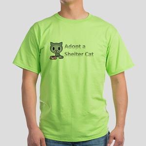 Adopt a Shelter Cat Green T-Shirt