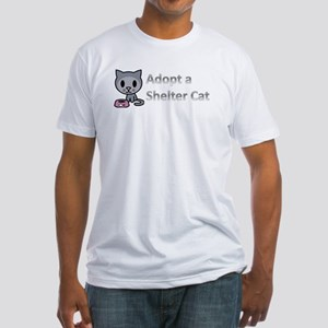 Adopt a Shelter Cat Fitted T-Shirt