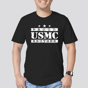 Proud USMC Brother Men's Fitted T-Shirt (dark)