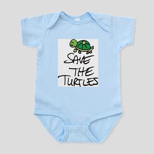 SAVE THE TURTLES Infant Bodysuit