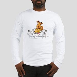 Welsh Terrier World Long Sleeve T-Shirt