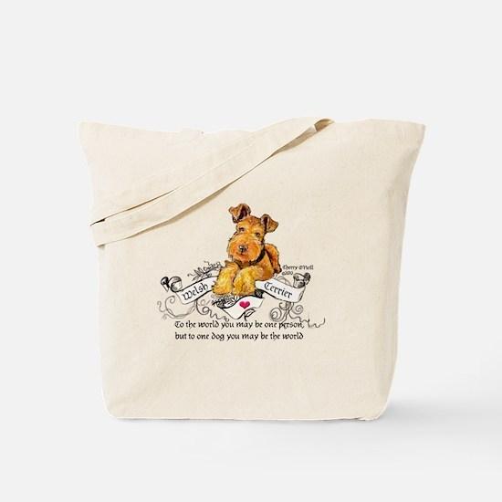 Welsh Terrier World Tote Bag