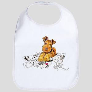 Welsh Terrier World Cotton Baby Bib