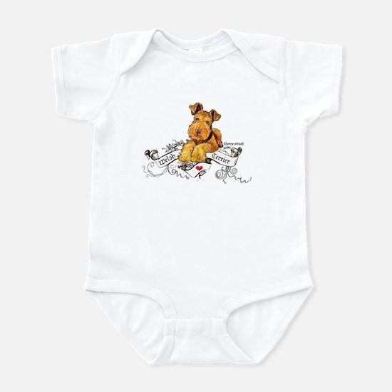 Welsh Terrier World Baby Light Bodysuit