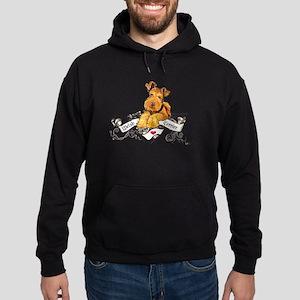 Welsh Terrier World Hoodie (dark)
