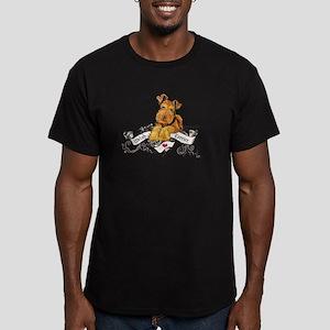 Welsh Terrier World Men's Fitted T-Shirt (dark)