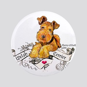 "Welsh Terrier World 3.5"" Button"